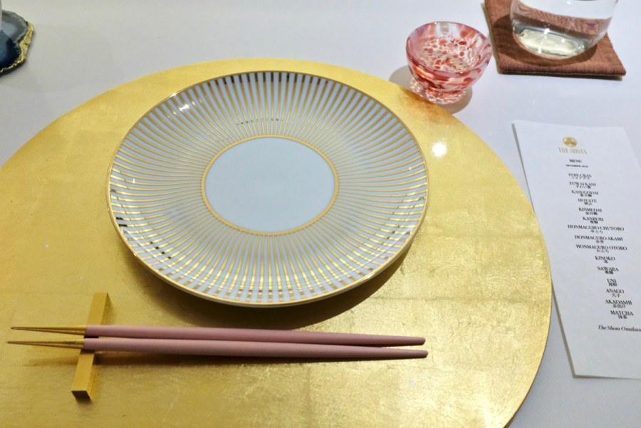 The Shota - Setting with pick your own chopsticks and sake cup