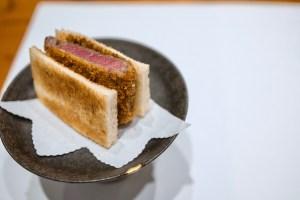 Hiroshi - Wagyu Katsu Sando - fried panko crusted Wagyu sandwich