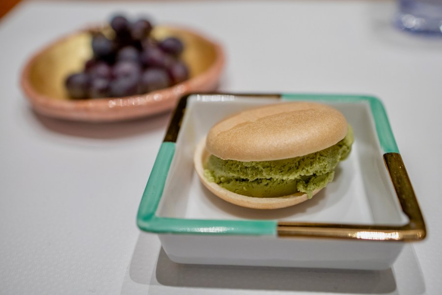 Hiroshi - Green Tea Monaka Ice Cream Sandwich, Kyoho Grapes