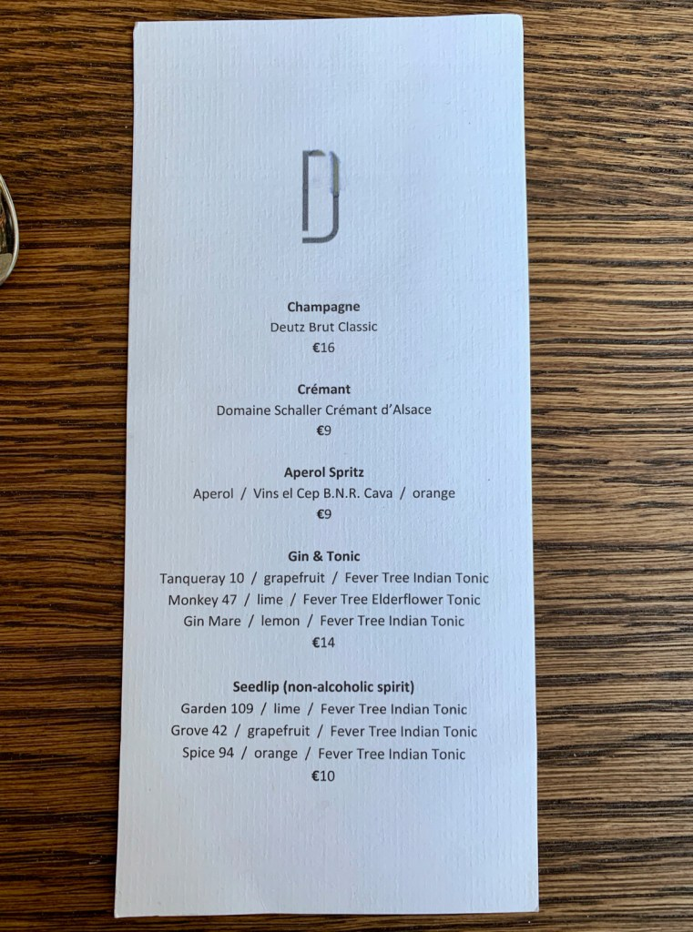 Daalder - Drink Menu August 2019