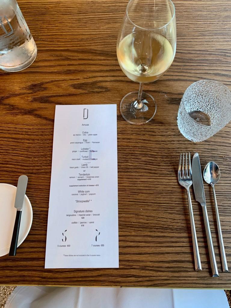 Daalder - Menu and table setting