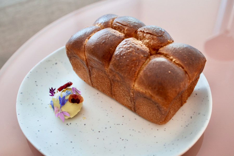 Atelier Crenn Takeout - Brioche with blue cheese cultured butter