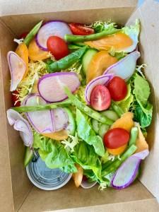 Masabaga - Green Salad - Mixed Greens, Fresh Vegetables, & Onion Vinaigrette