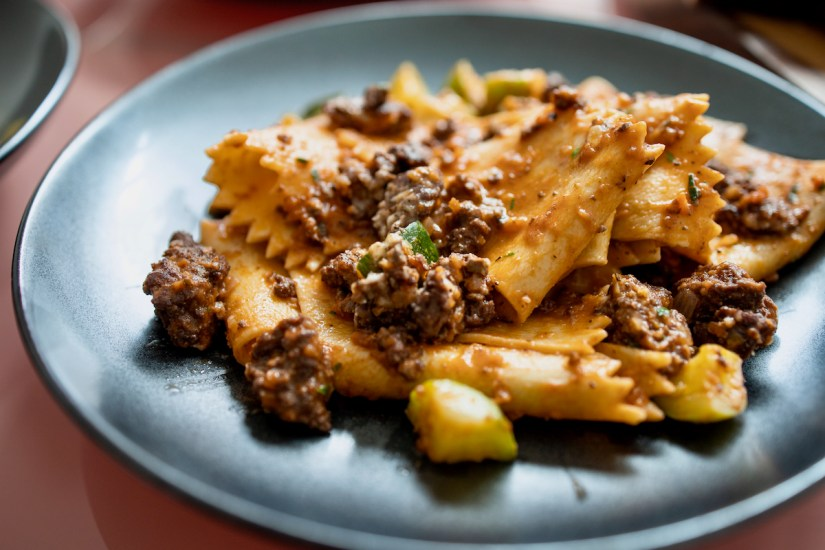 Trattoria Bruno SF Pop Up - Pappardelle - handmade with a rich and savory wagyu ragu meat sauce