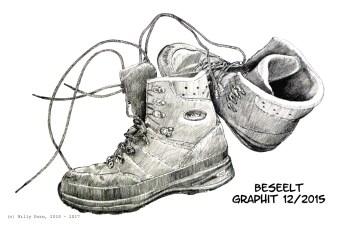 Wanderstiefel - Graphitzeichnung, Willy Dorn