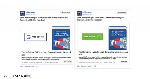 masih menyalahkan algoritma facebook ads - warna tombol pada iklan facebook ads copy
