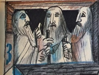 Three who knows? Three are the Patriarch Fathers.