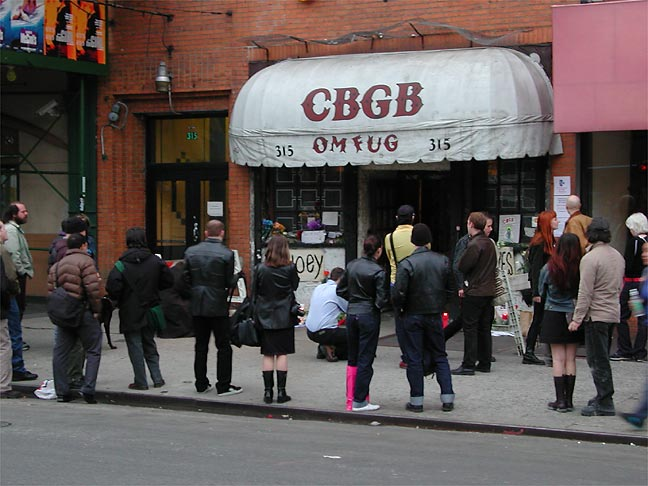 Gawkers at CBGB.