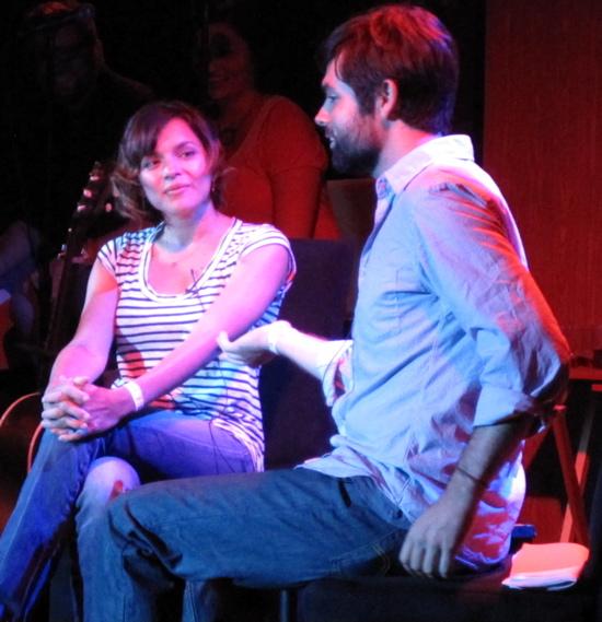 Norah Jones and host Sam Osterhout,