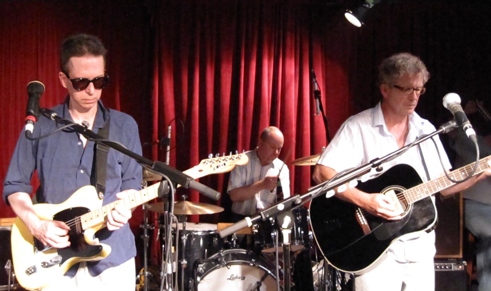 Glenn Mercer, Stanley Demeski and Bill Million of The Feelies at Maxwell's on July 4, 2009. (Copyright 2009, Steven P. Marsh)