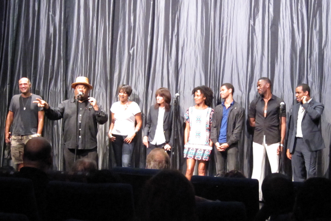 The Passing Strange team at the IFC Center, from left: producer Steve Klein, Stew, de'Adre Aziza, Heidi Rodewald, Eisa Davis, Chad Goodridge, Colman Domingo and Daniel Breaker.