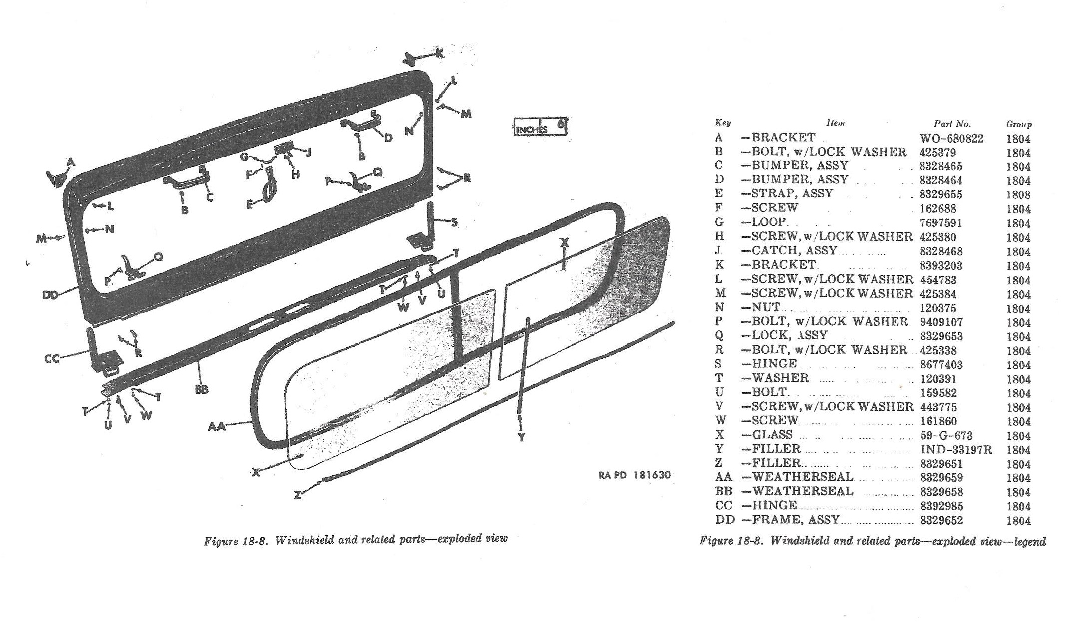Willysmjeeps M38a1 Amp M170 Body Parts Ord 9 Snl G 758