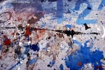 Manchas de pintura en dominante azul. WU PHOTO © Willy Uribe Archivo fotográfico Reportajes
