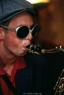 Músico. Saxofón. Hossegor. France. WU PHOTO © Willy Uribe Archivo Fotográfico Reportajes
