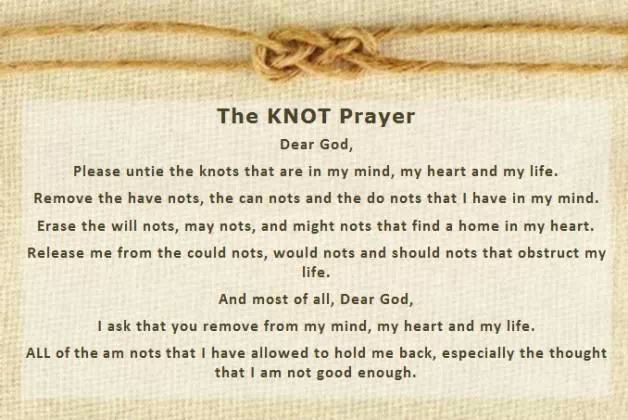 The Knot Prayer from Facebook