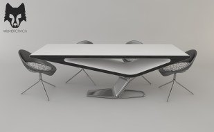Dining Table: Quantum Designer: Wilmer Chaca © All rights reserved