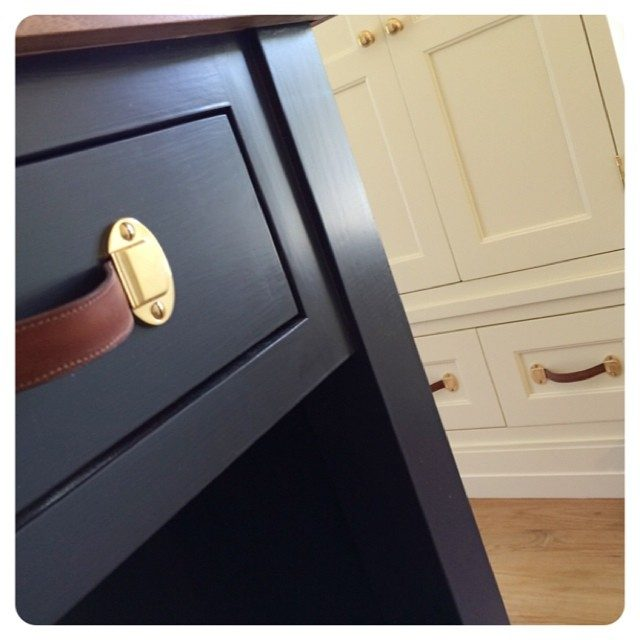 these leather pulls were recently installed - so fun!