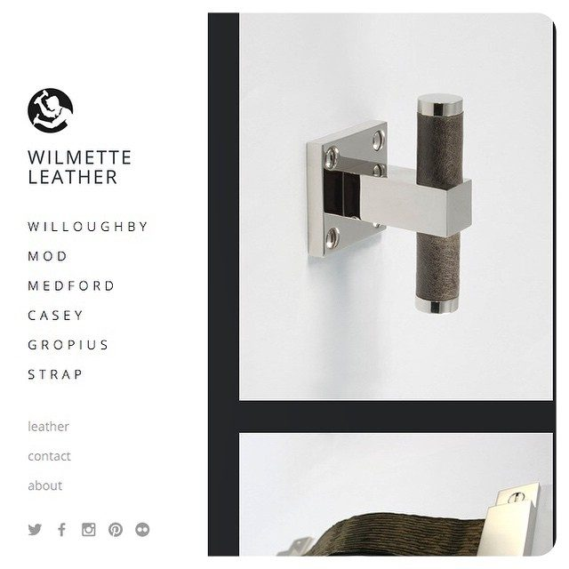 wilmetteleather.com is up and running! Head on over to check out our latest custom leather hardware