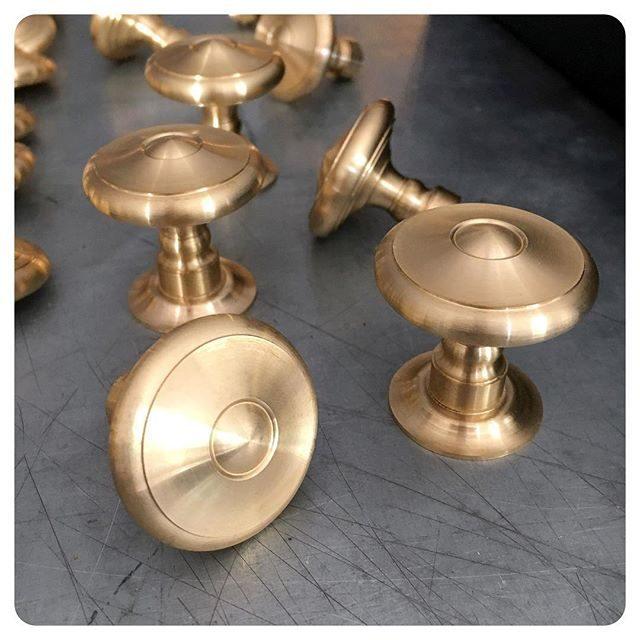 whitebridge cabinet knob stocked and ready for polishing