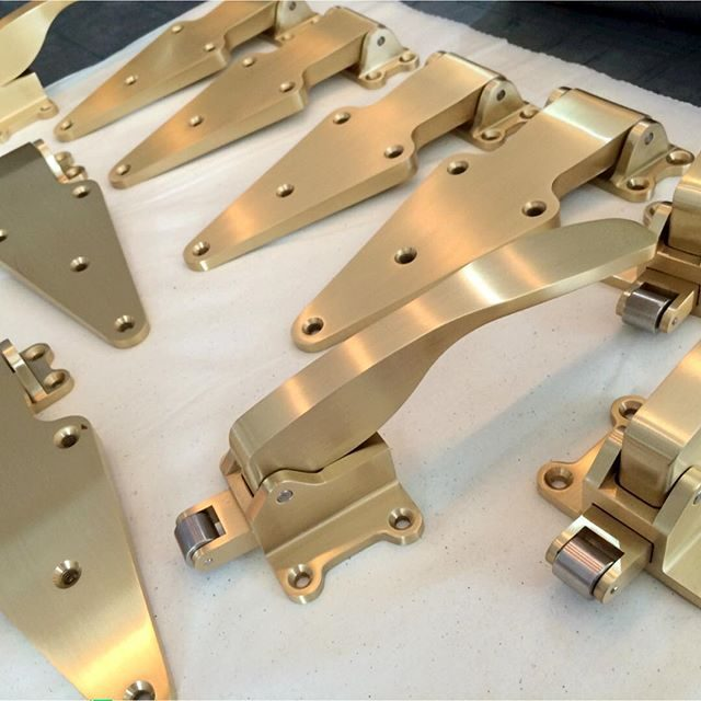 ice box hardware in satin brass