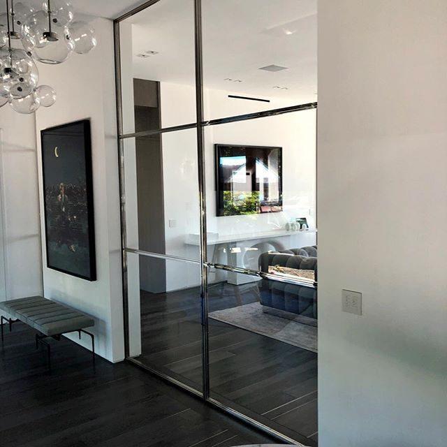 amazing polished nickel doors 12 feet tall
