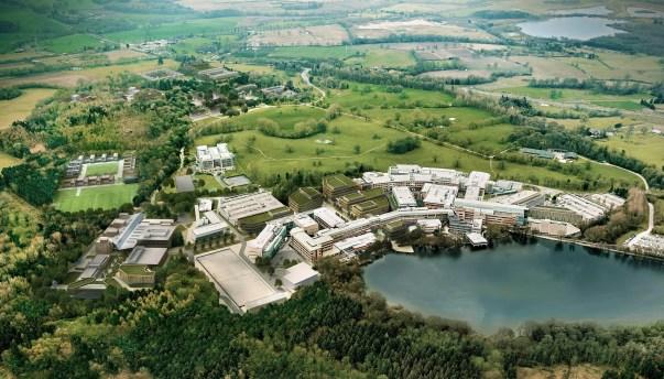 aerial view alderley park