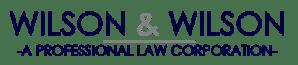 Wilson & Wilson Professional Law Corporation logo retina
