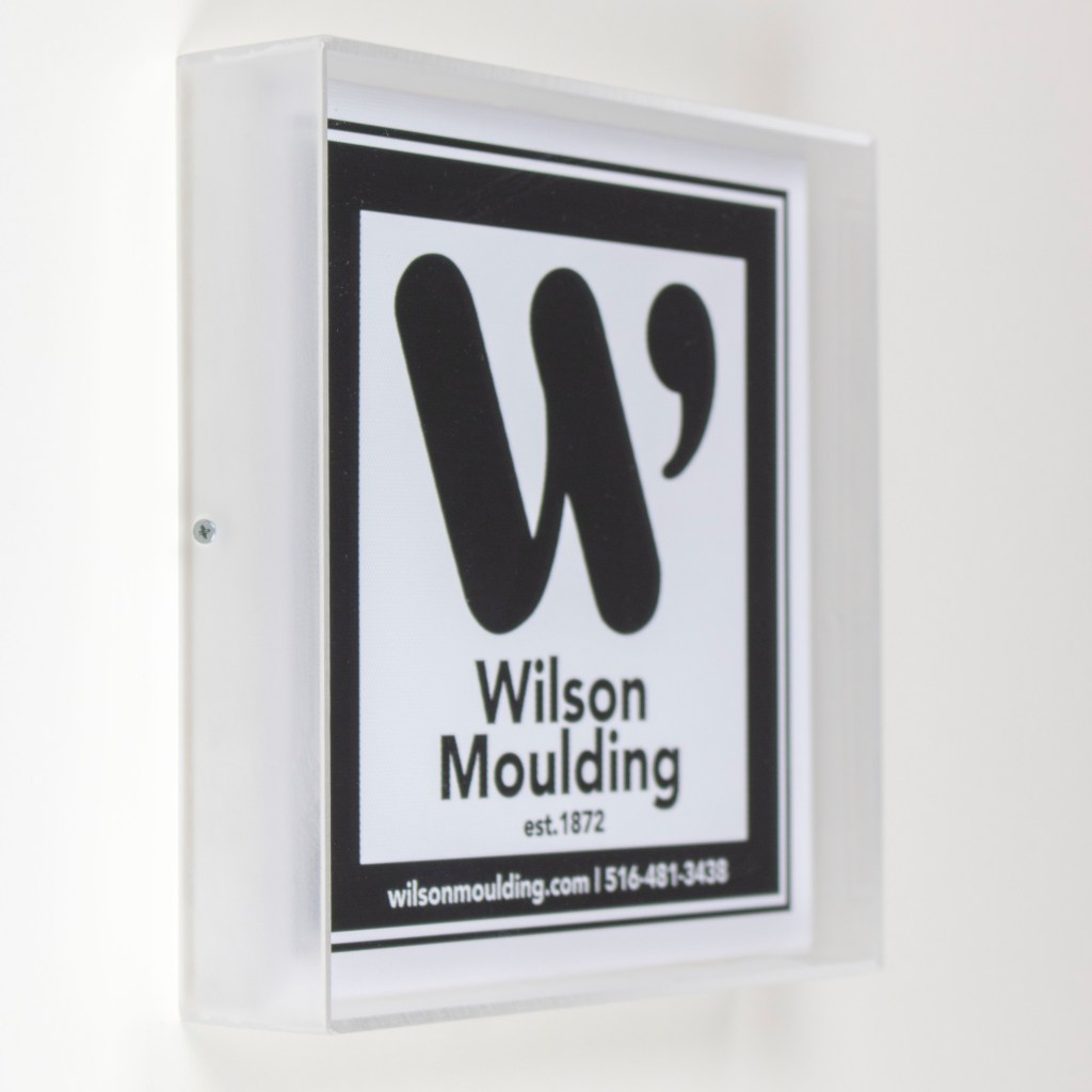 Frosted Acrylic Box- Wilson Moulding