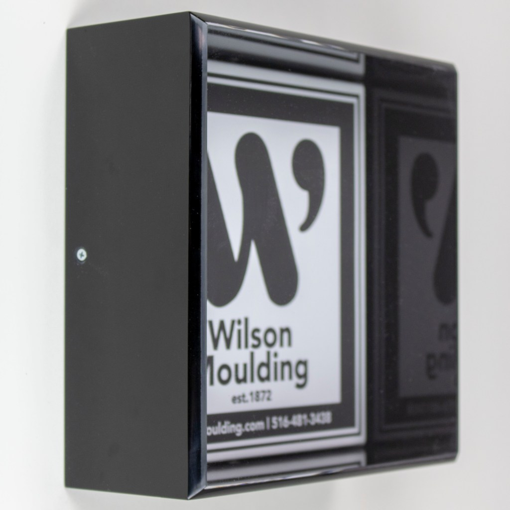 Black Acrylic Box - Wilson Moulding