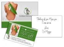Chiropractic Note Card Mailer