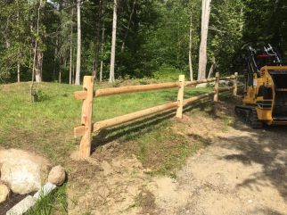mini skid fence work