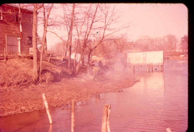 Back of club, boat houses, NO cattails