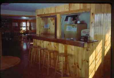 The new upstairs bar