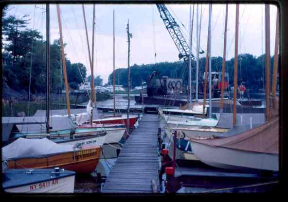 Boats moved to make way for dredging