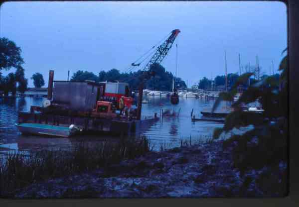 Dredging the front and backfilling the original steel pilings