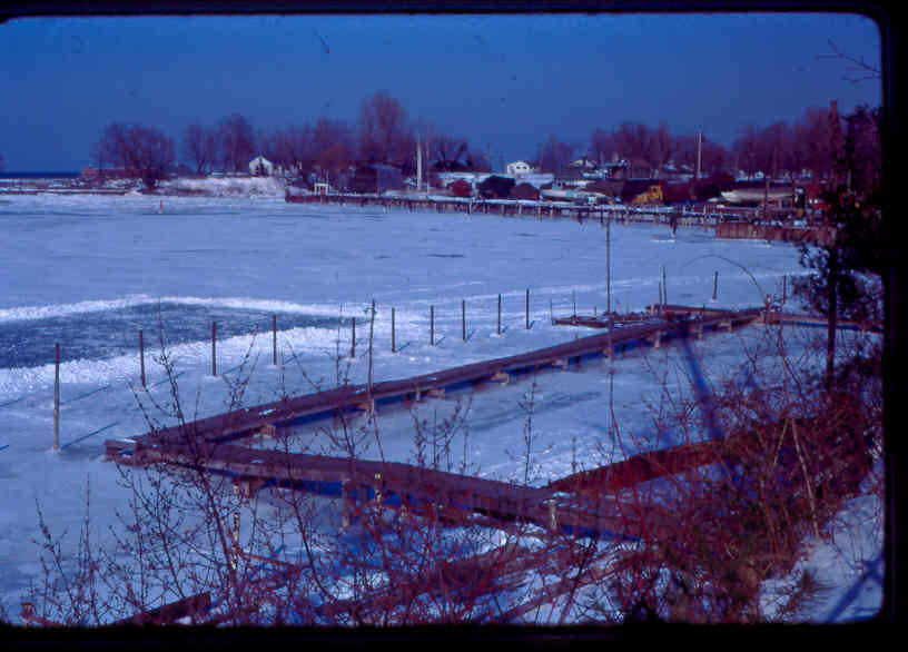 New East end docks with ice skating rink