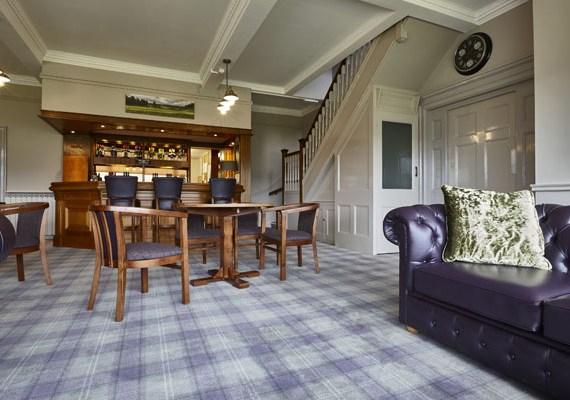 Golf Club carpet, wool axminster golf club carpet designed and woven in the UK by Wilton Carpets