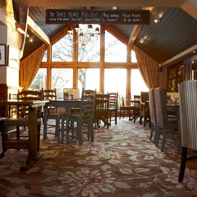 A Beautiful Botanical Print Carpet From Wilton Carpets Commercial Now Covers The Floor Of Three Bears Bar And Restaurant In Stockport