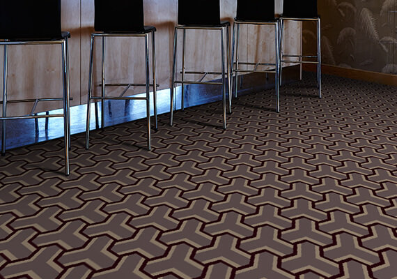 Labyrinth contract woven Axminster carpets by Wilton Carpets