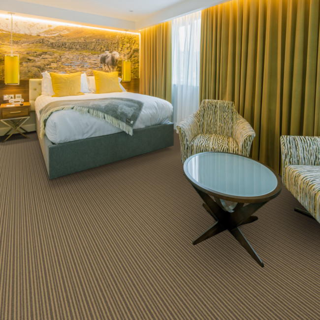 Berwick Selkirk striped tufted carpet from Wilton Carpets