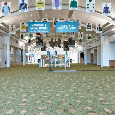 Hospitality Carpet at Cheltenham Racecourse from Wilton Carpets