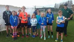 junior athletes with medals