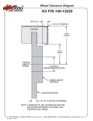 Wilwood Disc Brakes  Front Brake Kit Part No: 14013029