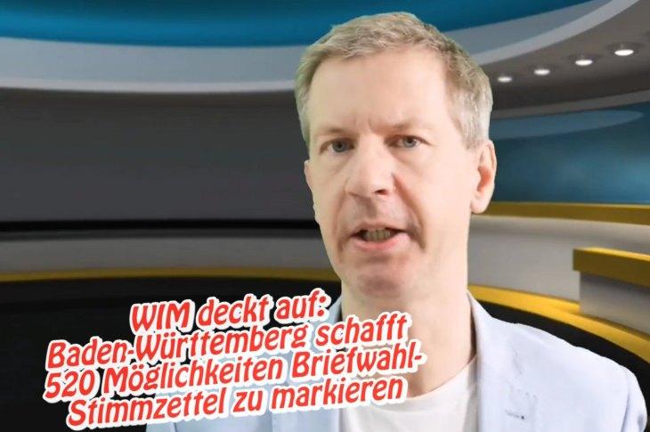 Video. WIM deckt auf: Baden-Württemberg schafft 520 Möglichkeiten Briefwahl-Stimmzettel zu markieren