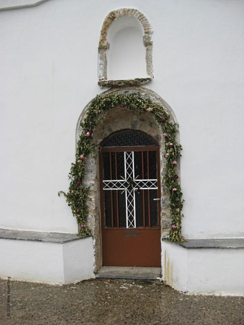 stalen deur kerk, Chios