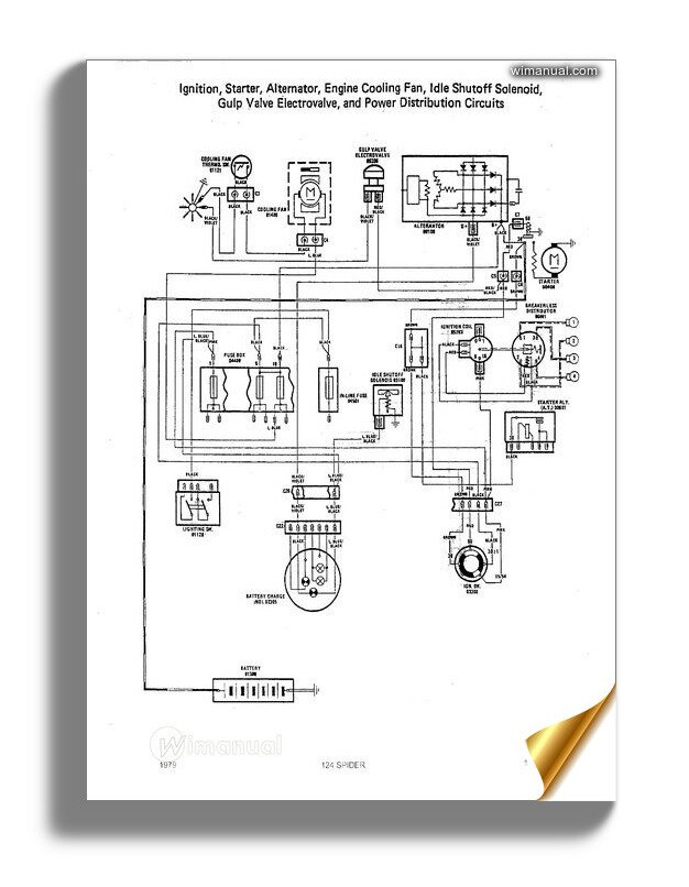 wiring diagram fiat 124 sport  micro fuse box for wiring