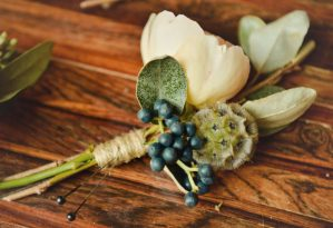 farm fresh flowers crafted into boutonnieres