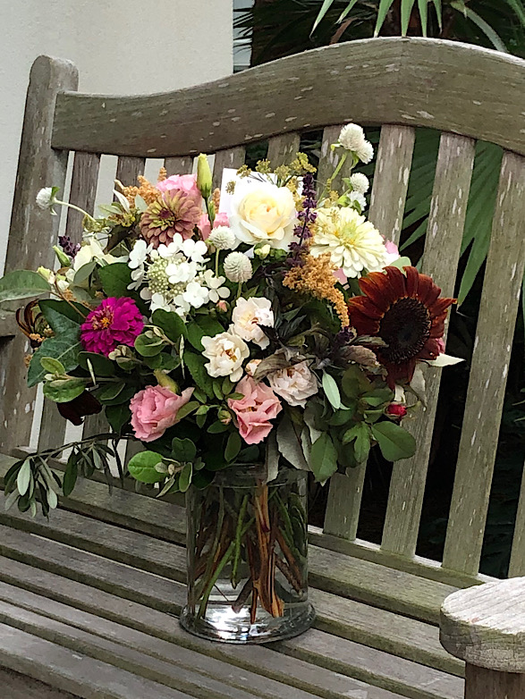 Fresh flower bouquet for delivery from Wimbee Creek Farm