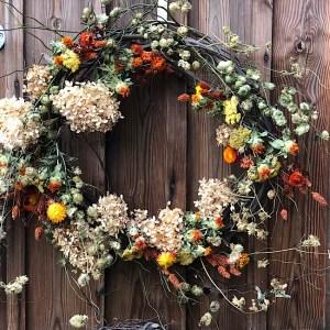 Fall Floral Wreath from Wimbee Cfreek Farm