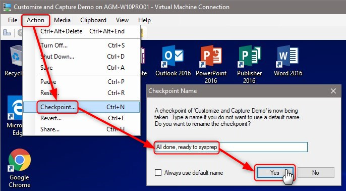 Windows 10 Unattended install media – Part 5: Sysprep & Capture